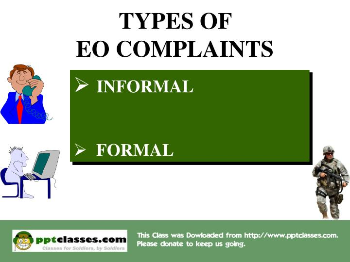 Types of eo complaints