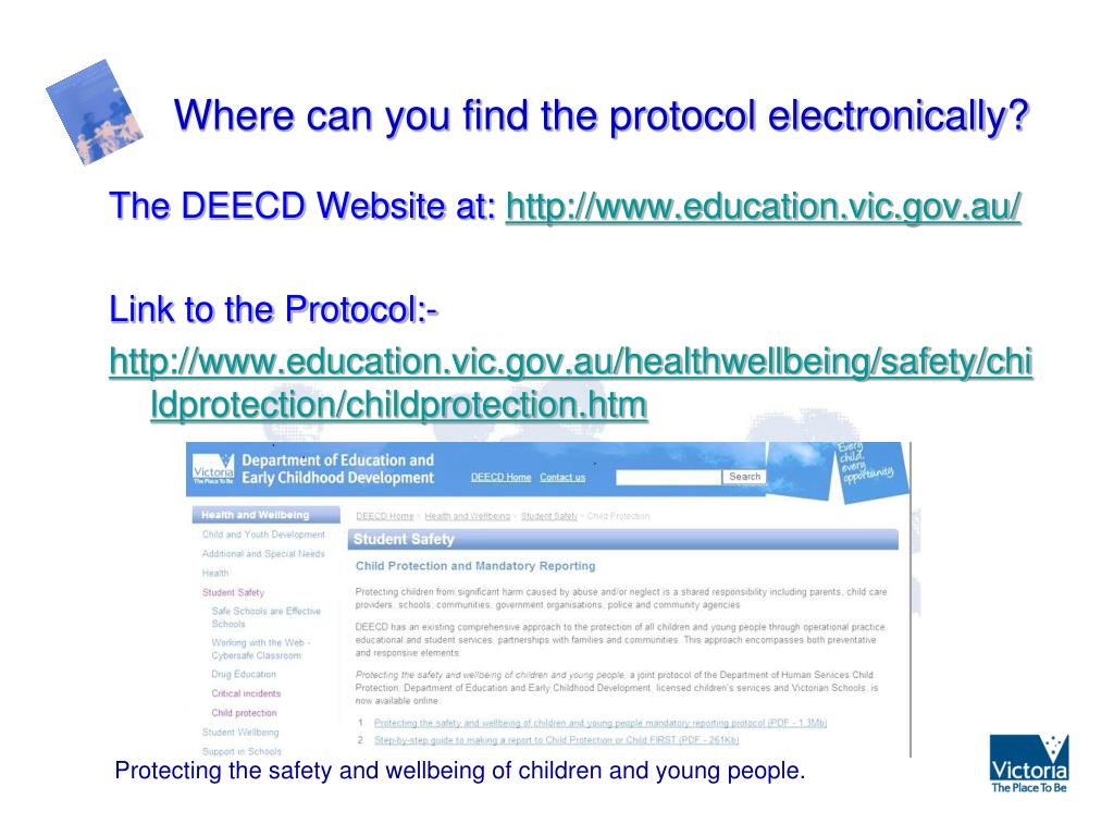 PPT - Protecting the safety and wellbeing of children and young