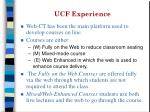 ucf experience