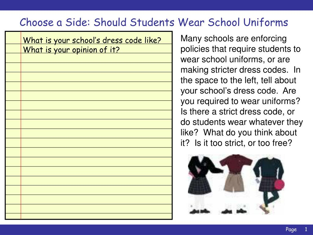 why do kids have to wear uniforms