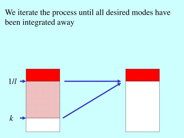 We iterate the process until all desired modes have been integrated away