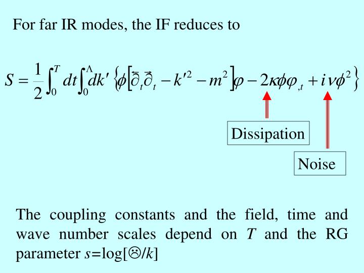 For far IR modes, the IF reduces to