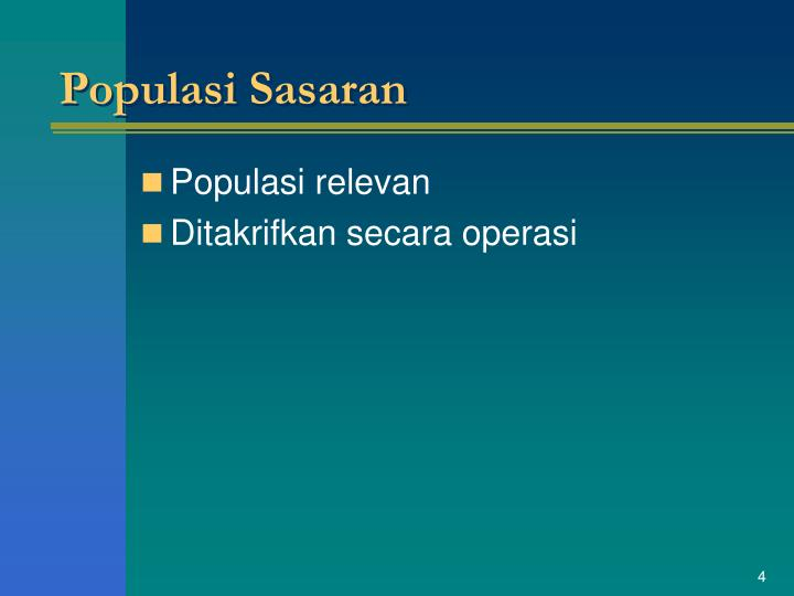 Populasi Sasaran