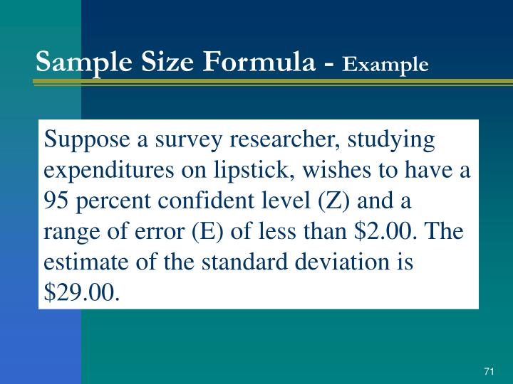 Sample Size Formula -