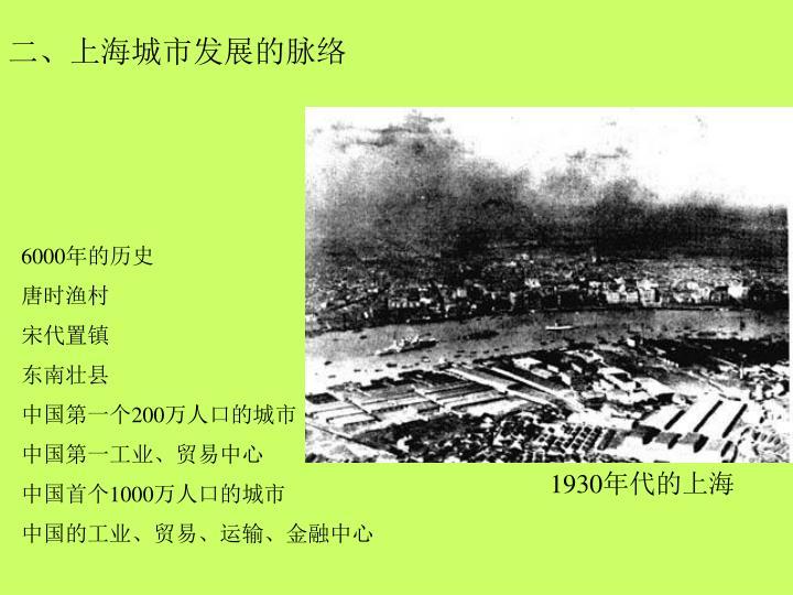 二、上海城市发展的脉络