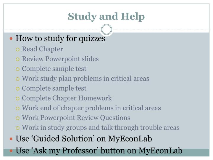 Study and Help