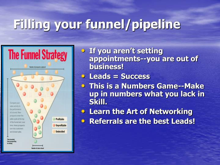 Filling your funnel/pipeline