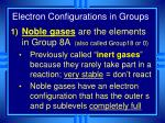 electron configurations in groups1