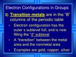 electron configurations in groups3