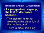 ionization energy group trends