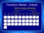 transition metals d block