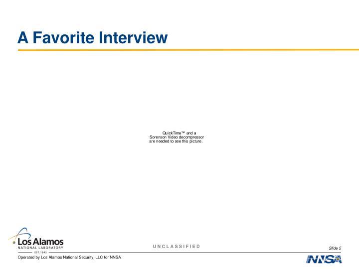 A Favorite Interview