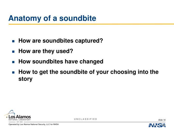Anatomy of a soundbite