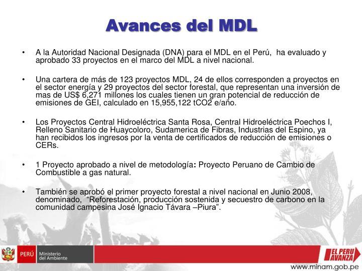 Avances del MDL