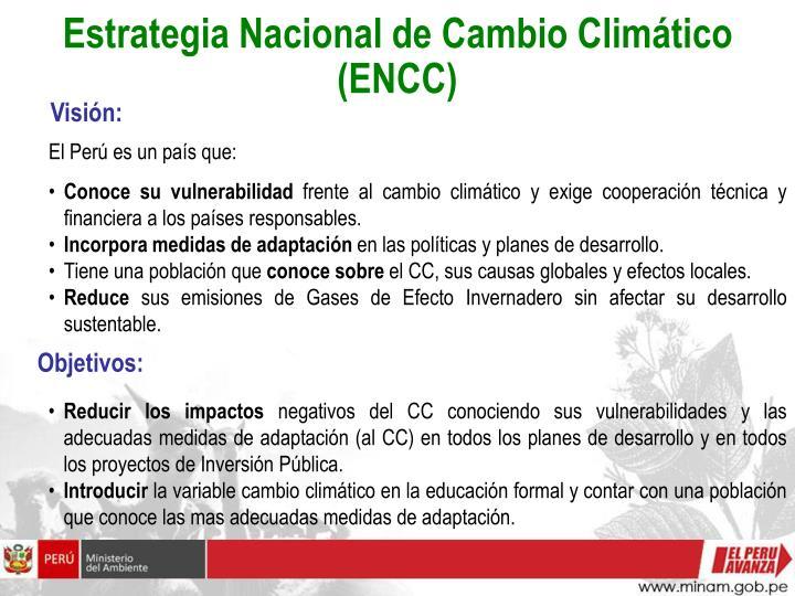 Estrategia Nacional de Cambio Climático (ENCC)