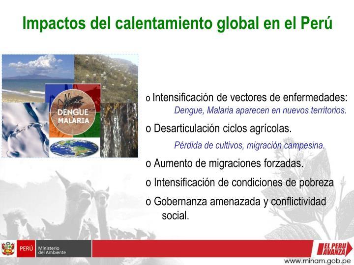 Impactos del calentamiento global en el Perú