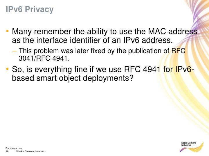 IPv6 Privacy