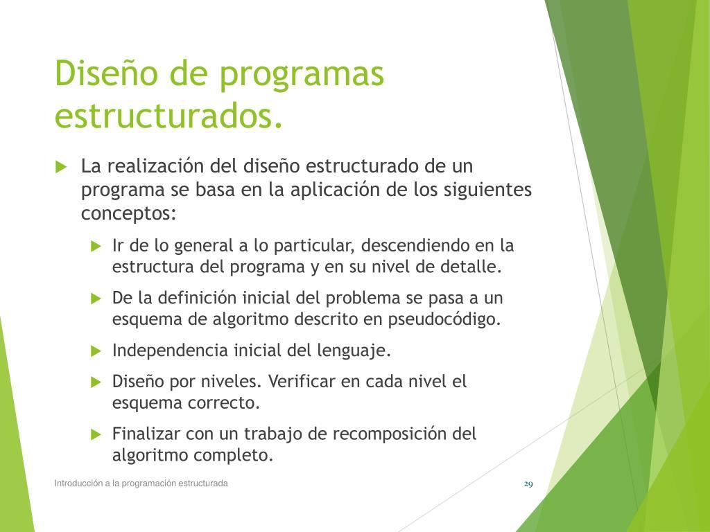 Ppt Programación Estructurada Powerpoint Presentation