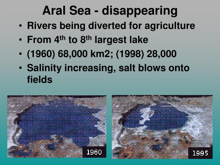 Aral Sea - disappearing