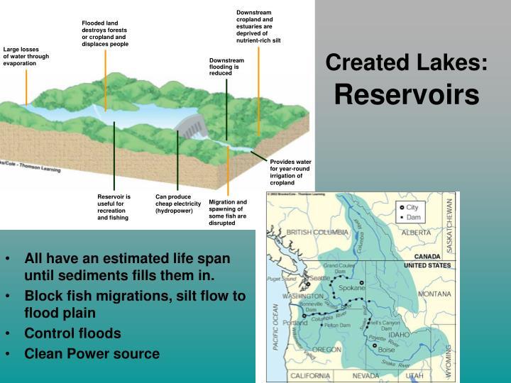 Created Lakes: