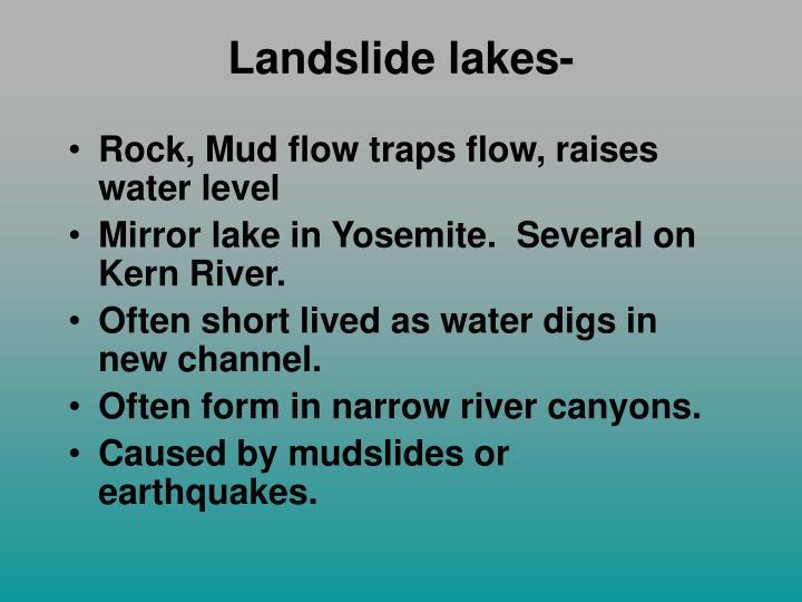 Landslide lakes-