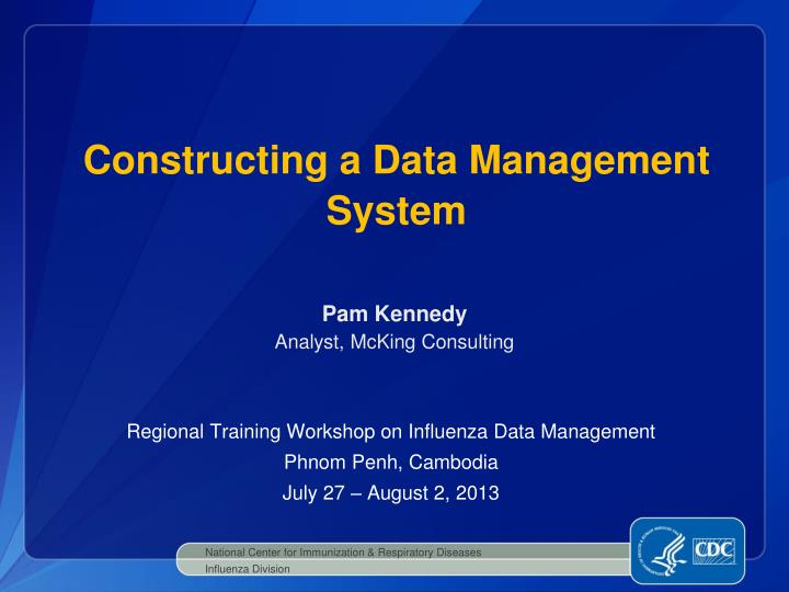 constructing a data management system n.