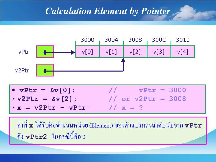 Calculation Element by Pointer