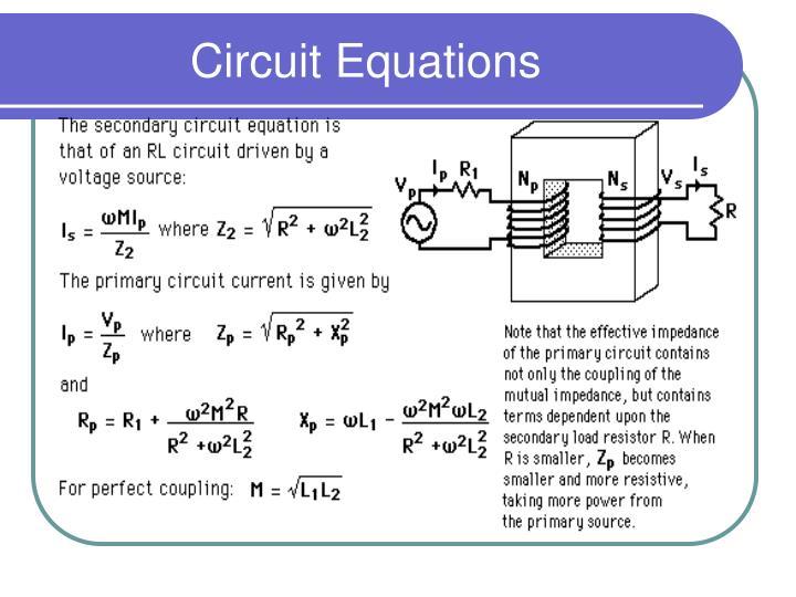 Circuit Equations