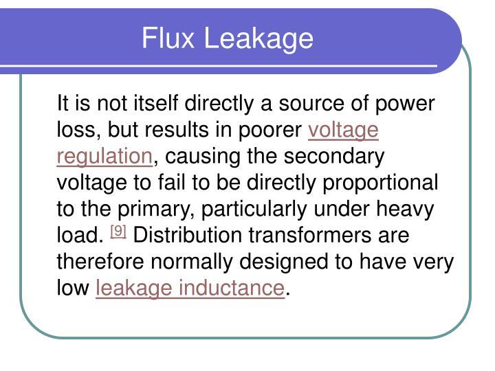 Flux leakage1