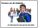 in both general and special education