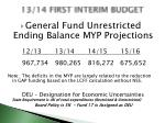 13 14 first interim budget