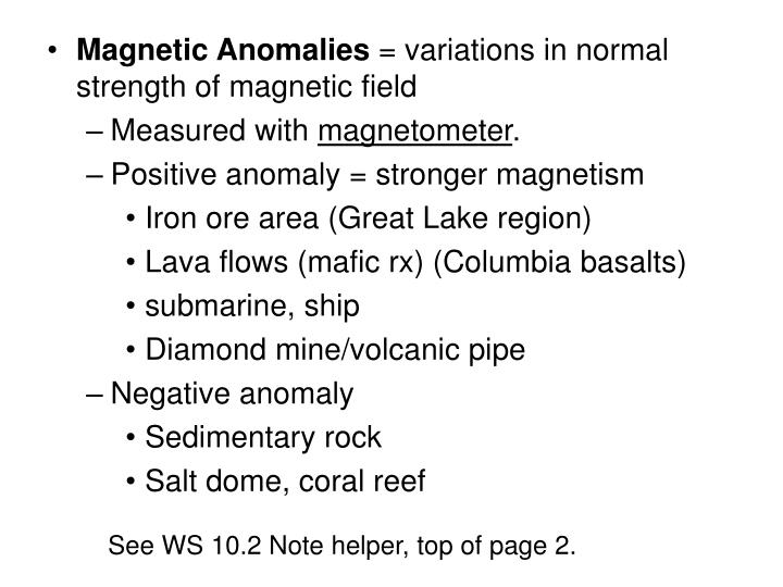 Magnetic Anomalies
