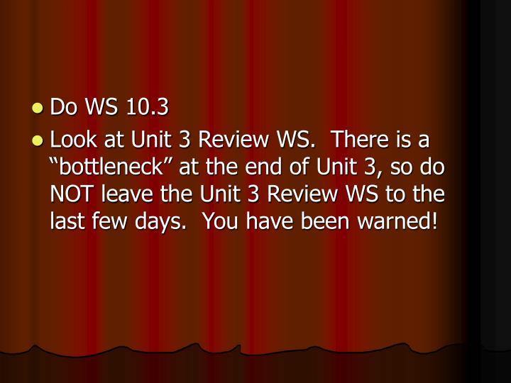 Do WS 10.3