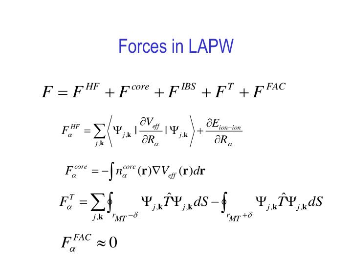 Forces in LAPW