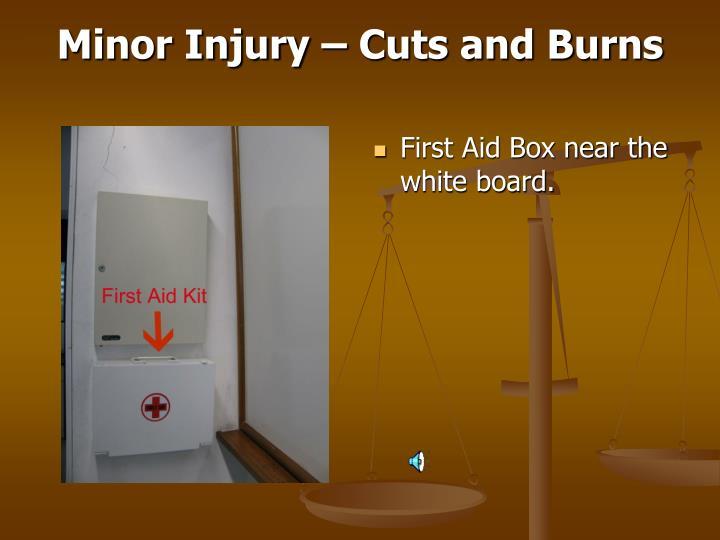 Minor Injury – Cuts and Burns