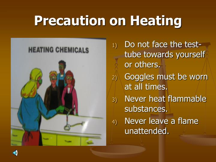 Precaution on Heating