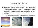 high level clouds
