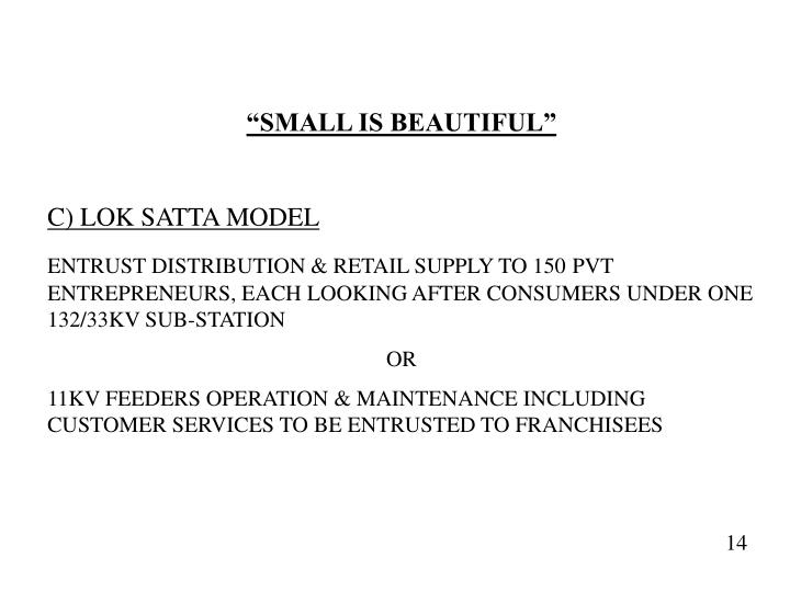 """SMALL IS BEAUTIFUL"""