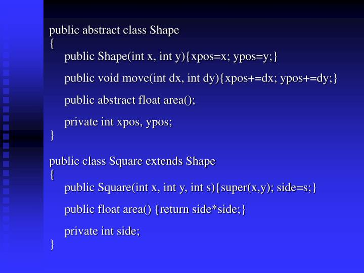 public abstract class Shape