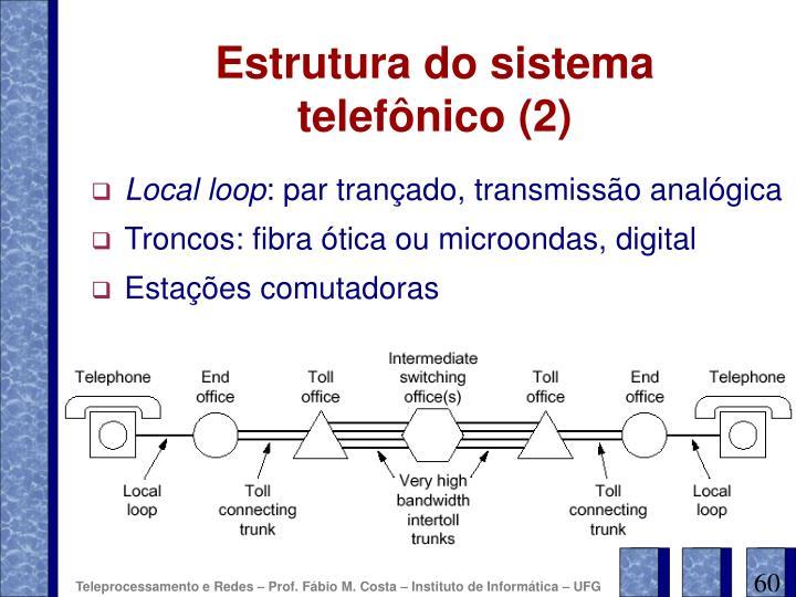 Estrutura do sistema telefônico (2)
