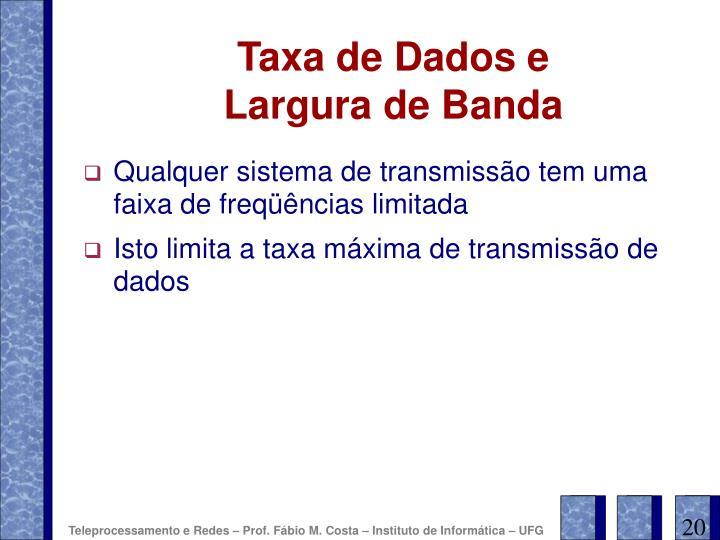 Taxa de Dados e