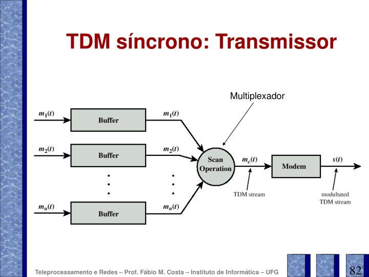 TDM síncrono: Transmissor