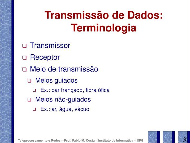 Transmiss o de dados terminologia