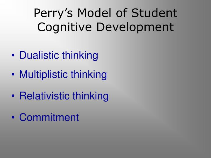Perry's Model of Student Cognitive Development