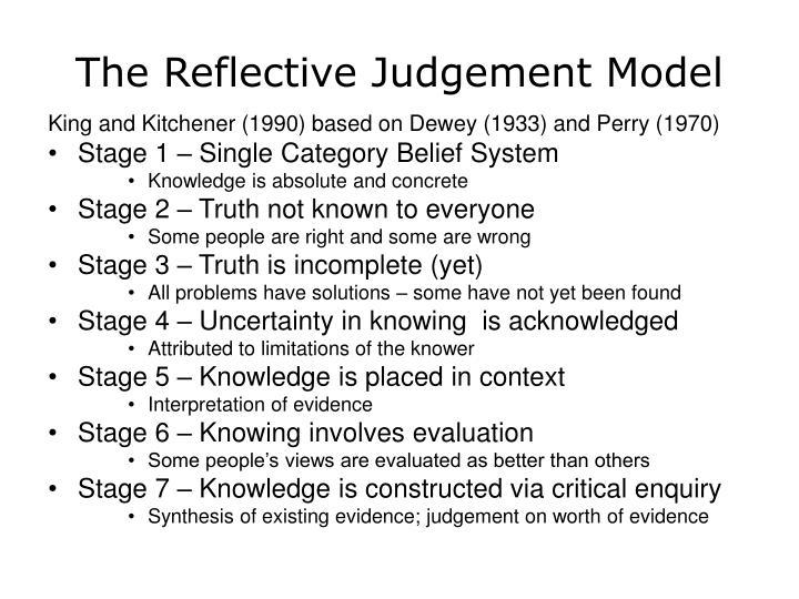 The Reflective Judgement Model