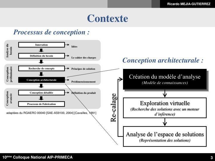 Ppt mod lisation distribu e des connaissances s for Conception architecturale definition