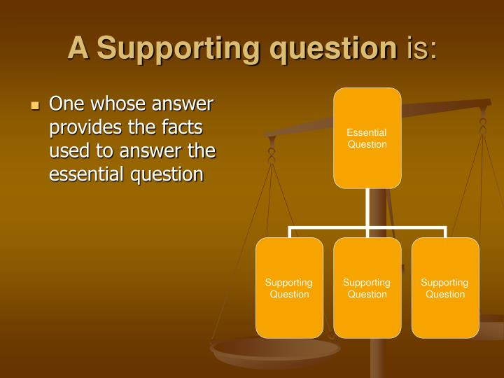 A Supporting question