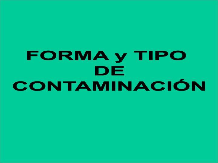 FORMA y TIPO