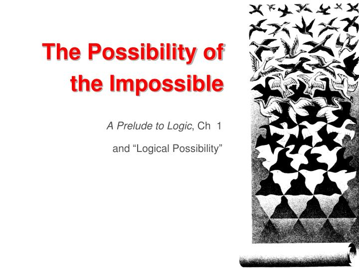 the possibility of the impossible n.
