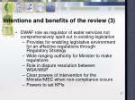 intentions and benefits of the review 3